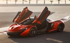 Picture Concept, orange, background, McLaren, door, the concept, supercar, the front, McLaren