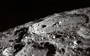 Picture moon, grey, gray, craters