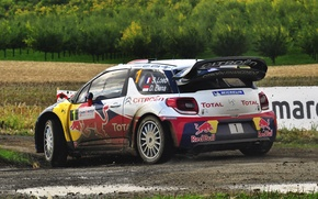 Picture Auto, Sport, Machine, Race, Citroen, Dirt, Citroen, Red Bull, DS3, WRC, Rally