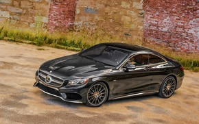 Picture wall, black, Mercedes-Benz, Mercedes, AMG, Black, AMG, 2014, S-Class, C217