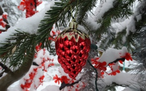 Picture snow, New year, decoration