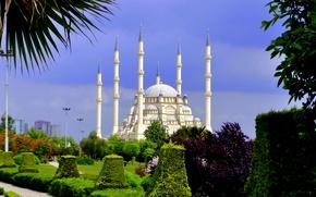 Picture Park, architecture, Turkey, park, Turkey, architecture, Mosque, Adana, Sabanci, Adana, Include Merkez Mosque