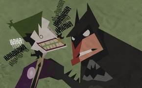 Picture Batman, figure, Joker, laughter, batman