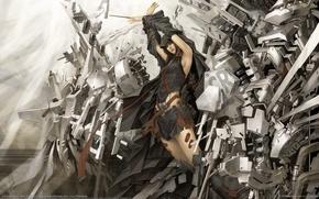 Wallpaper worlds, warrior, technology, girl