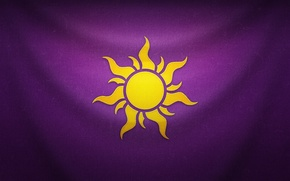 Picture purple, the sun, background, flag, Rapunzel, emblem, Tangled, Rapunzel, Rapunzel: A Tangled Tale