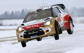 Picture Winter, Auto, Snow, Sport, Machine, Jump, Race, Citroen, Skid, Citroen, Sweden, DS3, WRC, Rally, Rally, …