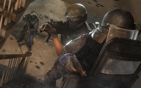 Picture gun, machine, shield, special forces, Rainbow six: Siege