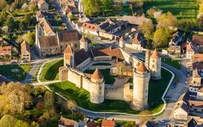 Picture landscape, castle, wall, France, tower, home, Chateau, Blandy-Les-Tours