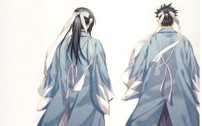Picture samurai, tape, Japanese clothing, Demons pale cherry, Hakuouki Shinsengumi Kitano, Hijikata Toushirou, from the back, …