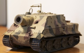 Wallpaper toy, installation, self-propelled, artillery, SAU, model, Sturmpanzer VI, Shturmtigr