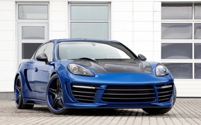 Wallpaper drives, tuning, Stingray, Ball Wed, Windows, GTR, Panamera, blue, Panamera, the front, tuning, Porsche, Porsche