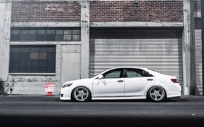Picture profile, white, toyota, Toyota, camry, Camry, stance