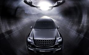 Wallpaper Biturbo Brabus, Mercedes Benz ML63, SUV, black
