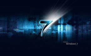 Wallpaper blue, seven, windows
