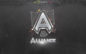 Picture wallpaper, logo, alliance, dota 2, team alliance