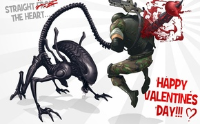 Picture art, Patrick Brown, Aliens Colonial Marines, fan, Happy Valentines Day!