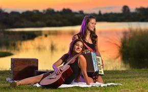 Picture music, girls, mood, guitar