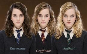 Wallpaper Emma, Hogwarts, ravenclaw, faculties, slytherin, gryffindor