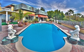 Picture house, Villa, pool, houses with pools