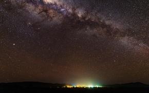 Picture stars, night, horizon, the milky way