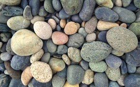 Picture green, colorful, grey, yellow, blue, stones, round