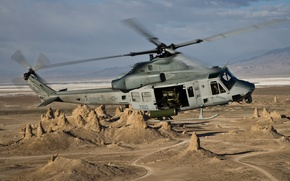 Picture flight, helicopter, multipurpose, Venom, Bell UH-1Y