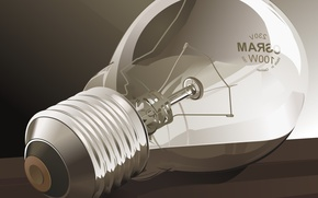 Picture light bulb, vector
