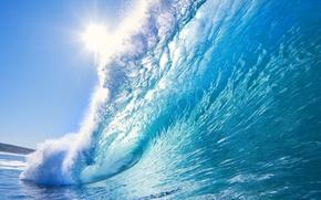 Picture sea, nature, wave