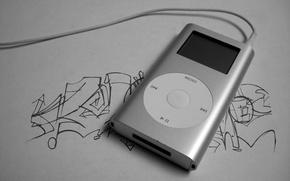 Wallpaper style, white, ipod