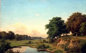 Picture landscape, Orlovsky, pond
