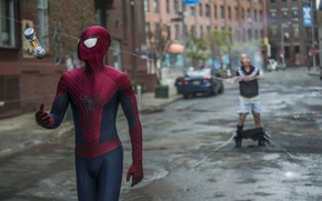 Picture spider man, Andrew Garfield, Paul Giamatti, the amazing spider man 2