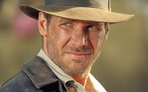 Picture look, face, hat, Harrison Ford, Harrison Ford, Indiana Jones and the Temple of doom, Indiana …