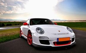 Picture auto, white, Porsche, Porsche 911