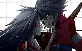 Picture blood, anime, murder, girl, kid