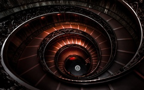Picture spiral, Italy, ladder, The Vatican Museum