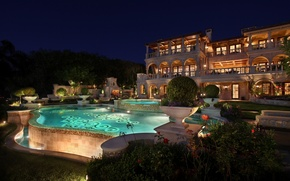 Picture night, pool, the hotel, resort, garden, pools, exterior, mansions