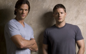 Wallpaper actor, supernatural, supernatural, Dean, jensen ackles, over the padalecki jared, Jared padalecki, the brothers Winchester, ...
