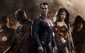Picture Batman, arrow, Batman, Superman, Superman, justice League, Batman v Superman: Dawn of Justice, flash, wonder …