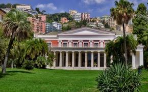 Picture landscape, home, slope, Italy, Naples, Villa Pignatelli