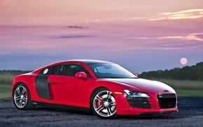 Picture red, audi r8, supercar