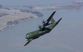 Picture flight, the plane, military transport, Lockheed Martin, Super Hercules, C-130J