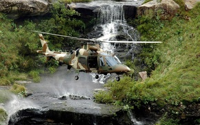 Picture grass, stones, waterfall, helicopter, South Africa, swallow, multipurpose, Agusta, easy, Hirundo, 109