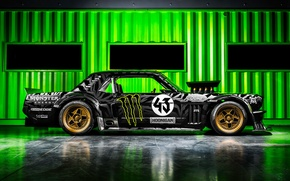 Picture Mustang, Ford, Monster, 1965, RTR, Side, Block, Ken, Gymkhana, Energy, Hoonicorn, SEVEN, 845 hp