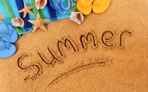 Wallpaper summer, beach, sand
