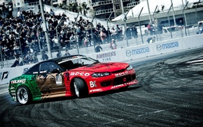 Wallpaper skid, nissan, drift, Nissan, silvia, s15, formula drift, the competition