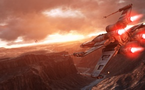 Picture game, Electronic Arts, DICE, X-Wing, The rebels, Rebels, TIE-Fighter, star wars battlefront