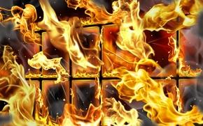 Wallpaper Fire, grille
