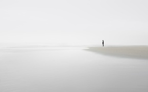 Picture sea, shore, people