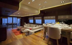 Picture design, style, interior, yacht, salon, Suite