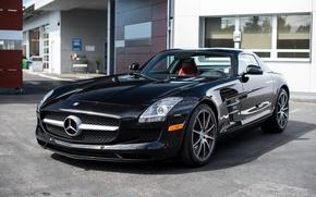 Picture Mercedes, AMG, Black, SLS, San francisco